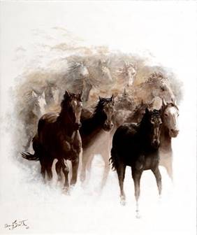 Description: horses running